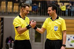 Referee Zahovic Admir and Referee Mocnik Peric Ales during friendly futsal match between National teams of Slovenia and France on February 6, 2019 in Bonifika, Koper / Capodistra, Slovenia. Photo by Matic Ritonja / Sportida