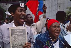 Haitians protest Bush Emigration policy,29/05/1992