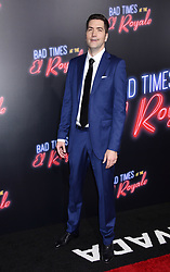 'Bad Times At The El Royale' Global Premiere held at the TCL Chinese Theatre on September 22, 2018 in Hollywood, CA. © Janet Gough / AFF-USA.com. 22 Sep 2018 Pictured: Drew Goddard. Photo credit: Janet Gough / AFF-USA.com / MEGA TheMegaAgency.com +1 888 505 6342