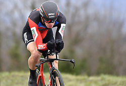 March 7, 2018 - Saint Etienne, France - SAINT-ETIENNE, FRANCE - MARCH 7 : ROELANDTS Jurgen  (BEL)  of BMC Racing Team during stage 4 of the 2018 Paris - Nice cycling race, an individual time trial over 18,4 km from La Fouillouse to Saint-Etienne on March 07, 2018 in Saint-Etienne, France, 07/03/2018 (Credit Image: © Panoramic via ZUMA Press)
