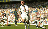 Photo: Aidan Ellis.<br /> Leeds United v Plymouth Argyle. Coca Cola Championship. 07/04/2007.<br /> Leeds David Healy celebrates scoring the equaliser