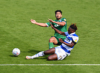 Football - 2019 / 2020 Sky Bet (EFL) Championship - Queens Park Rangers vs. Sheffield Wednesday<br /> <br /> Sheffield Wednesday's Massimo Luongo is tackled by Queens Park Rangers' Osman Kakay, at Kiyan Prince Foundation Stadium (Loftus Road).<br /> <br /> COLORSPORT/ASHLEY WESTERN