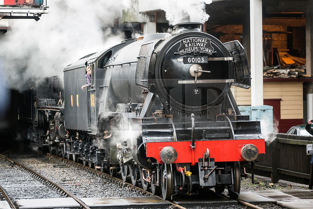 © Licensed to London News Pictures. 05/04/2016. Goathland UK. File picture shows the Flying Scotsman locomotive designed by Sir Nigel Gresley. A statue will be unveiled today of the famous engineer Sir Nigel Gresley in London's King's Cross station to make the 75th anniversary of his death. Sir Nigel designed the Mallard, the Sir Nigel Gresley & the Flying Scotsman.  Photo credit: Andrew McCaren/LNP
