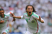 Fotball<br /> Foto: Piko Press/Digitalsport<br /> NORWAY ONLY<br /> <br /> MEXICO vs. JAMAICA in their World Cup 2010 qualifying soccer match in Mexico D.F., September 6, 2008<br /> Here Mexican player Andres Guardado celebrating his goal.