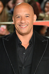 © Licensed to London News Pictures. 10/12/2017. VIN DIESEL attends the European film premiere of xXx: Return of Xander Cage. London, UK. Photo credit: Ray Tang/LNP