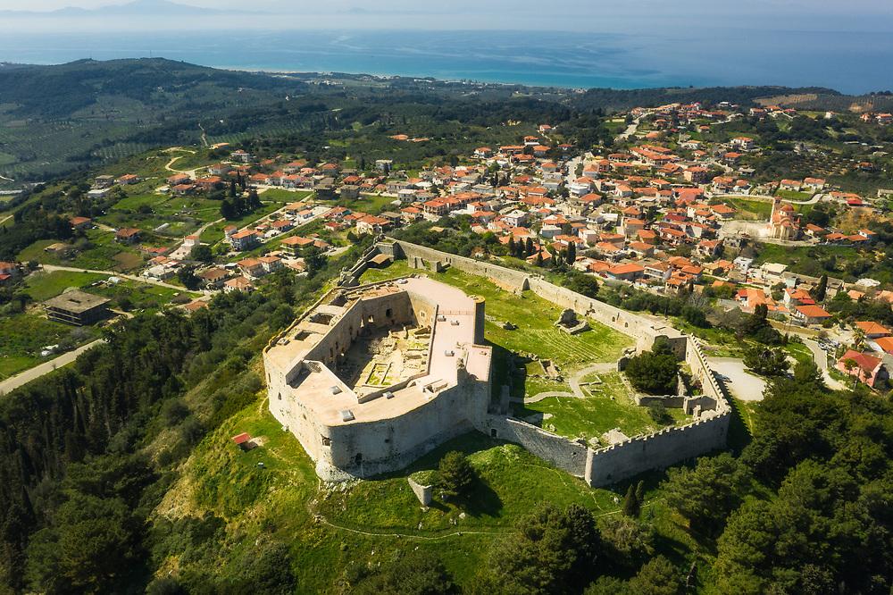 Chlemoutsi castle at Kastro, Peloponnese peninsula, Greece