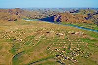 Mongolie, province de Dundgov, desert de Gobi, ruine du monastere Ongii Khiid // Mongolia, Dundgov province, Gobi desert, Ongii Khiid monastery remain