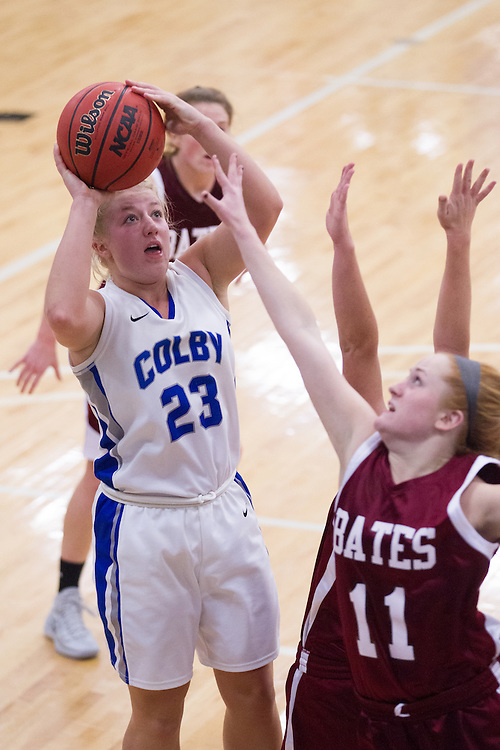 Carylanne Wolfington, of Colby College, during an NCAA Division III college basketball game against Bates College at The Whitmore-Mitchell at Wadsworth Gymnasium, Wednesday Dec. 4, 2013 in Waterville, ME.  (Dustin Satloff/Colby College Athletics)