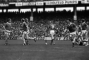 All Ireland Hurling Final - Cork vs Kilkenny.05.09.1982.09.05.1982.5th September 1982.Image as F.Cummins (9) walks away as Cork are awarded a free after a foul on goalkeeper Cunningham