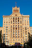 Ukraine, Kiev, Avenue Khreshchatyk Vulytsya. // Ukraine, Kiev, Khreshchatyk Vulytsya avenue.