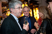 DAN FRANKLIN;  HENRY PORTER, Henry Porter hosts a launch for Songs of Blood and Sword by Fatima Bhutto. The Artesian at the Langham London. Portland Place. 15 April 2010.  *** Local Caption *** -DO NOT ARCHIVE-© Copyright Photograph by Dafydd Jones. 248 Clapham Rd. London SW9 0PZ. Tel 0207 820 0771. www.dafjones.com.<br /> DAN FRANKLIN;  HENRY PORTER, Henry Porter hosts a launch for Songs of Blood and Sword by Fatima Bhutto. The Artesian at the Langham London. Portland Place. 15 April 2010.