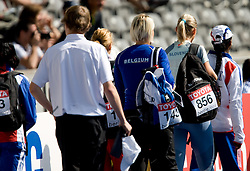 Snezana Rodic of Slovenia preparing for qualifying triple jump event of the 2009 IAAF Athletics World Championships on August 15, 2009 in Berlin, Germany. (Photo by Vid Ponikvar / Sportida)