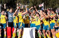 MELBOURNE -  Vreugde bij Australie na de gewonnen finale  tussen de mannen van Nederland en Australie  bij de Champions Trophy hockey in Melbourne. ANP KOEN SUYK