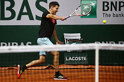 May 22, 2019 - Paris, France - Dominic Thiem of Austria during a training session on Suzanne Lenglen court in the preparations of the finals of Roland Garros tournament, in Paris, France, on May 22, 2019  (Credit Image: © Ibrahim Ezzat/NurPhoto via ZUMA Press)