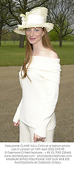 Debutante CLAIRE NALL-CAIN at a fashion photo call in London on 15th April 2002.OYX 95