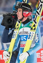 06.01.2015, Paul Ausserleitner Schanze, Bischofshofen, AUT, FIS Ski Sprung Weltcup, 63. Vierschanzentournee, Finale, im Bild Elias Tollinger (AUT) // Elias Tollinger of Austria reacts after his first Final Jump of 63rd Four Hills Tournament of FIS Ski Jumping World Cup at the Paul Ausserleitner Schanze, Bischofshofen, Austria on 2015/01/06. EXPA Pictures © 2015, PhotoCredit: EXPA/ Johann Groder