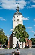 Paul Gerhardt church in the center of Lubben, Spreewald, Germany