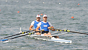 Lucerne, SWITZERLAND, EST M2X Bow, Allar RAJA and Kaspar TAIMSOO,  move away from the start, of the third round of the  2009 FISA World Cup,  on the Rottsee regatta Course, Friday  10/07/2009 [Mandatory Credit Peter Spurrier/ Intersport Images].