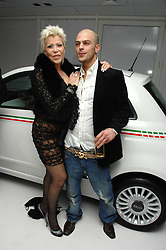 LISA VOICE and ABS from boyband Five at a party hosted by PPQ of Mayfair at the Fiat Flagship Store, 105 Wigmore Street, London W1 on 11th February 2008.<br />