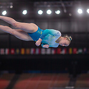 TOKYO, JAPAN - JULY 22:  Emily Whitehead of Australia  performing on the balance beam during the Artistic Gymnastics Podium Training at the Ariake Gymnastics Centre in preparation for the Tokyo 2020 Olympic Games on July 22, 2021 in Tokyo, Japan. (Photo by Tim Clayton/Corbis via Getty Images)