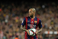 Barcelona´s Dani Alves during 2014-15 Copa del Rey final match between Barcelona and Athletic de Bilbao at Camp Nou stadium in Barcelona, Spain. May 30, 2015. (ALTERPHOTOS/Victor Blanco)
