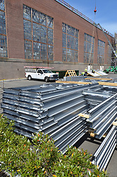 Renovations and Restoration of Coxe Cage Skylights and Roof. A Yale University Athlectics Facility. Construction Progress Photography Submission Two, 17 May 2013. One of 42 Images this Session.