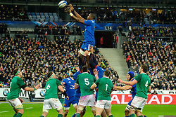 February 3, 2018 - Saint Denis, Seine Saint Denis, France - The Flanker of French Team YACOUBA CAMARA in action during the NatWest Six Nations Rugby tournament between France and Ireland at the Stade de France - St Denis - France..Ireland Won 15-13 (Credit Image: © Pierre Stevenin via ZUMA Wire)