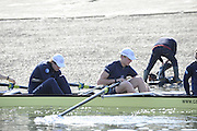 Putney. London. left Karl HUDSPITH, and Constantine LOULOUDIS, make adjustment prior to their training  session duringTideway Week build up to the  2011 University Boat Race, Championship Course - Putney to Mortlake. Monday  21/03/2011 [Mandatory Credit; Peter Spurrier/Intersport-images]..OUBC. Bow; Moritz HAFNER, Ben MYERS, Alec DENT, Ben ELLISON, Karl HUDSPITH, Constantine LOULOUDIS, George WHITTAKER, Stroke Simon HISLOP and cox Sam WINTER-LEVY 2011 Tideway Week
