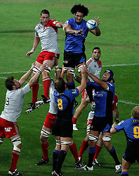 Sam Wykes - Western Force wins a line out during action from Round 11 of Super Rugby between the Western Force v Crusaders - April 30th,2011.Played at NIB Stadium Perth Western Australia.Conditions of Use - this image is intended for editorial use only (print or electronic).Any Further use requires additional clearance. Photo SMP Images (THERON KIRKMAN)