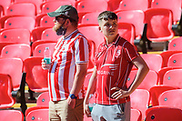 Lincoln City fans at the end of the game<br /> <br /> Photographer Chris Vaughan/CameraSport<br /> <br /> The EFL Sky Bet League One Play-Off Final - Blackpool v Lincoln City - Sunday 30th May 2021 - Wembley Stadium - London<br /> <br /> World Copyright © 2021 CameraSport. All rights reserved. 43 Linden Ave. Countesthorpe. Leicester. England. LE8 5PG - Tel: +44 (0) 116 277 4147 - admin@camerasport.com - www.camerasport.com
