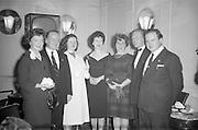 17/04/1961<br /> 04/17/1961<br /> 17 April 1961<br /> A.E.I. Gala Ltd. press reception at the Gresham Hotel Dublin. Miss Noell Middleton, (fourth from left) Sligo born film star presents prizes at the reception.