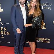 NLD/Utrecht/20170929 - Uitreiking Gouden Kalveren 2017, Jeroen van den Berg en partner Maria Tailor