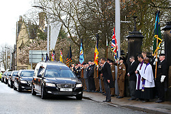 The Funeral procession arrives at the funeral service for Gordon Banks at Stoke Minster.