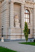 Statue representing Asia at Exterior of the Natural History Museum, Museum platz, Vienna, Austria