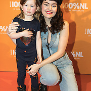 NLD/Amsterdam/20180220 - 100% NL Awards 2018, Jennie Lena en dochter Charlie