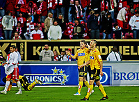 Tippeligaen ,<br /> Fotball , <br /> 06.05.2011 , <br /> Fredrikstad stadion ,<br /> Fredrikstad v Lillestrøm , <br /> Björn Bergmann Sigurdarson og Karim Essendri forlater Fredrikstad stadion , <br /> Foto: Thomas Andersen / Digitalsport