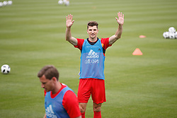 June 5, 2018 - Tubize, BELGIUM - Belgium's Thomas Meunier pictured during a training session of the Belgian national soccer team Red Devils, Tuesday 05 June 2018, in Tubize. The Red Devils started their preparations for the upcoming FIFA World Cup 2018 in Russia. BELGA PHOTO BRUNO FAHY (Credit Image: © Bruno Fahy/Belga via ZUMA Press)