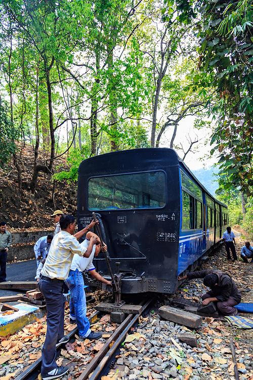 DHR train crash on route in India.