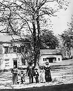 American family in  street circa 1865
