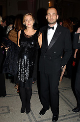 Fashion designer PHOEBE PHILO and MAX WIGRAM at the 2004 British Fashion Awards held at Thhe V&A museum, London on 2nd November 2004.<br />