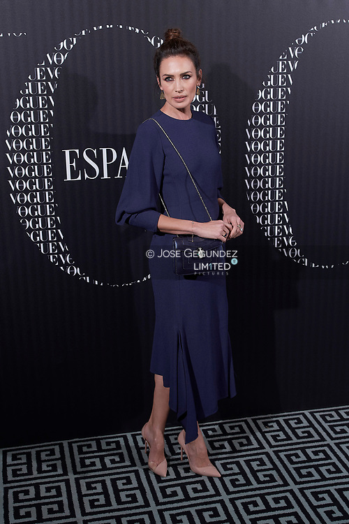 Nieves Alvarez attends a Vogue Spain magazine dinner honouring Victoria Bekcham at Santo Mauro Hotel on January 18, 2018 in Madrid