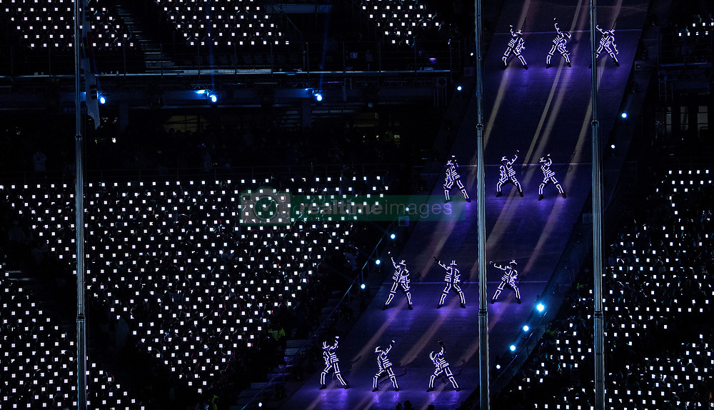February 25, 2018 - Pyeongchang, KOR - Performers at Pyeongchang Olympic Stadium during the Closing Ceremony of the 2018 Pyeongchang Winter Olympics on Sunday, February 25, 2018 in South Korea. (Credit Image: © Carlos Gonzalez/TNS via ZUMA Wire)