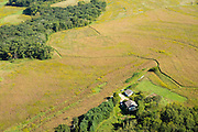 Aerial view of rural Green County, Wisconsin.
