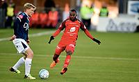 Fotball , 2. april 2018 , Eliteserien , Strømsgodset - Brann<br /> Jonathan Parr , SIF<br /> Gilbert Koomson, Brann