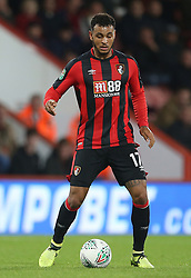 """AFC Bournemouth Josh King in action during the Carabao Cup, third round match at the Vitality Stadium, Bournemouth. PRESS ASSOCIATION Photo. Picture date: Tuesday September 19, 2017. See PA story SOCCER Bournemouth. Photo credit should read: Steven Paston/PA Wire. RESTRICTIONS: EDITORIAL USE ONLY No use with unauthorised audio, video, data, fixture lists, club/league logos or """"live"""" services. Online in-match use limited to 75 images, no video emulation. No use in betting, games or single club/league/player publications."""