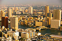 View from Shiodome toward the Sumida River (Katchidoki-bashi Bridge), Tokyo, Japan