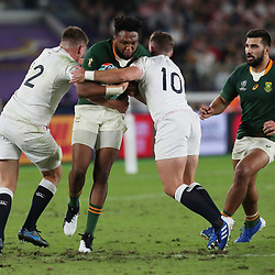Lukhanyo Am of South Africa during the Rugby World Cup Final match between South Africa Springboks and England Rugby World Cup Final at the International Stadium Yokohama  Japan.Saturday 02 November 2019. (Mandatory Byline - Fotosport/David Gibson)