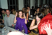 FRANCESCA VERSACE AND GIULIA MARESCA, Gap/ Red launch Dinner hosted by  Katie Grand at Bistrotheque. Bethnal Green. London. 29 November 2007.  -DO NOT ARCHIVE-© Copyright Photograph by Dafydd Jones. 248 Clapham Rd. London SW9 0PZ. Tel 0207 820 0771. www.dafjones.com.