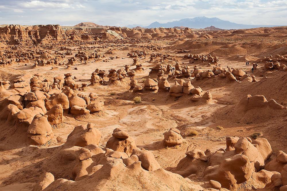 Vast field of hoodoos at Goblin Valley State Park, Utah.