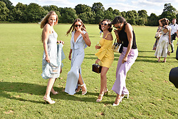Hum Fleming,  Louise Thompson, Georgia May Foote and Amal Fashanu at the Laureus polo Cup at Ham Polo Club, Ham, London, England. 21 June 2018.